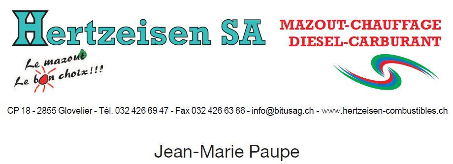 Logo Hertzeisen SA mazoute 2012 Paupe Jean-Marie
